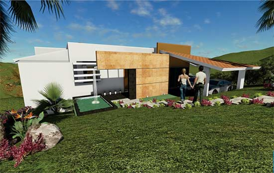Casa ecológica con vista panorámica preventa